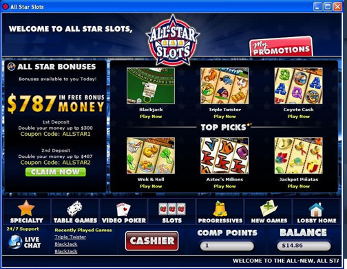 all stars casino no deposit bonus
