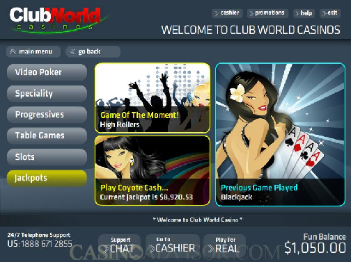 club world casino no deposit codes july 2017